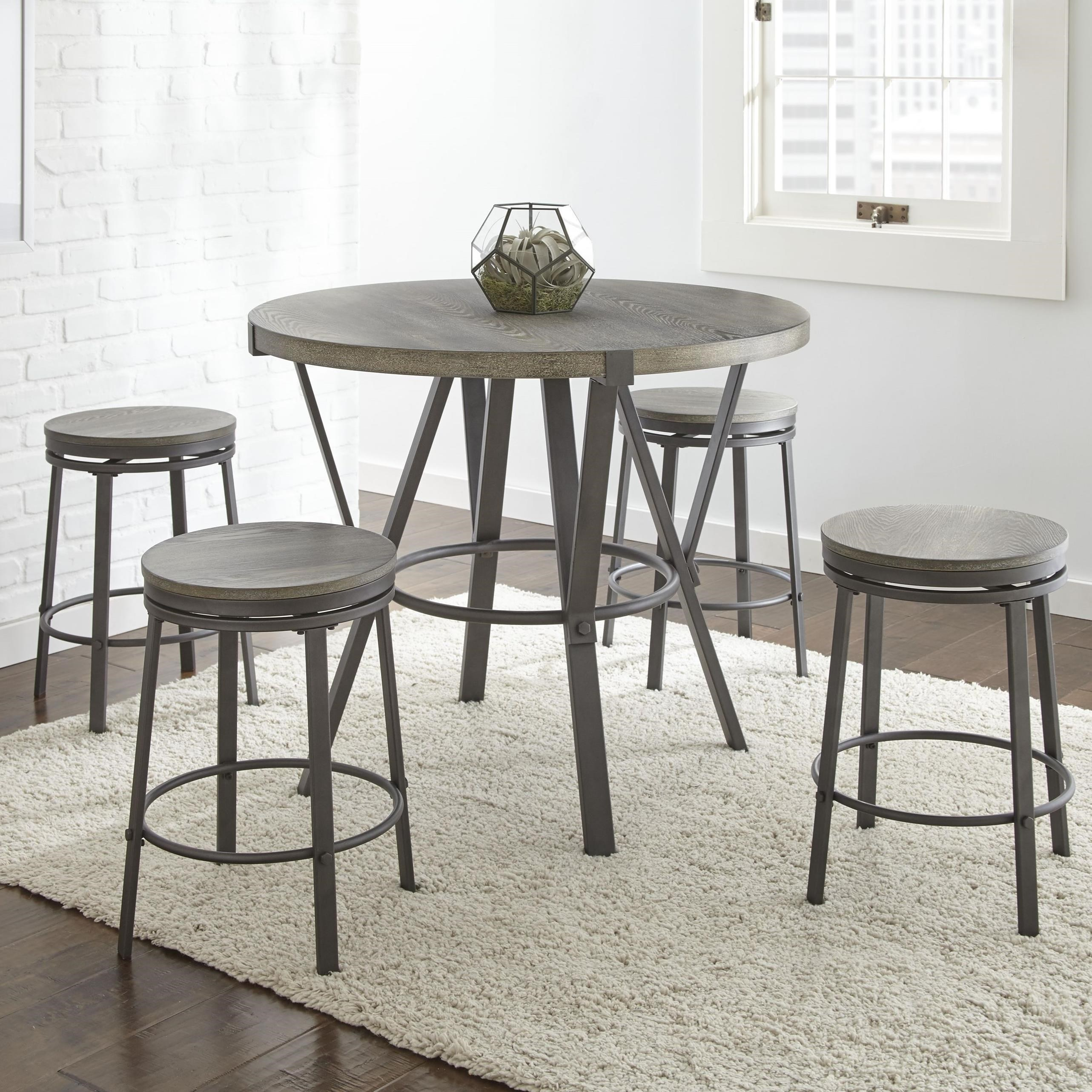 Portland 5 Piece Counter Height Dining Set by Steve Silver at Northeast Factory Direct