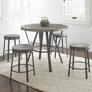 5 Piece Indsustrial Style Counter Height Dining Set