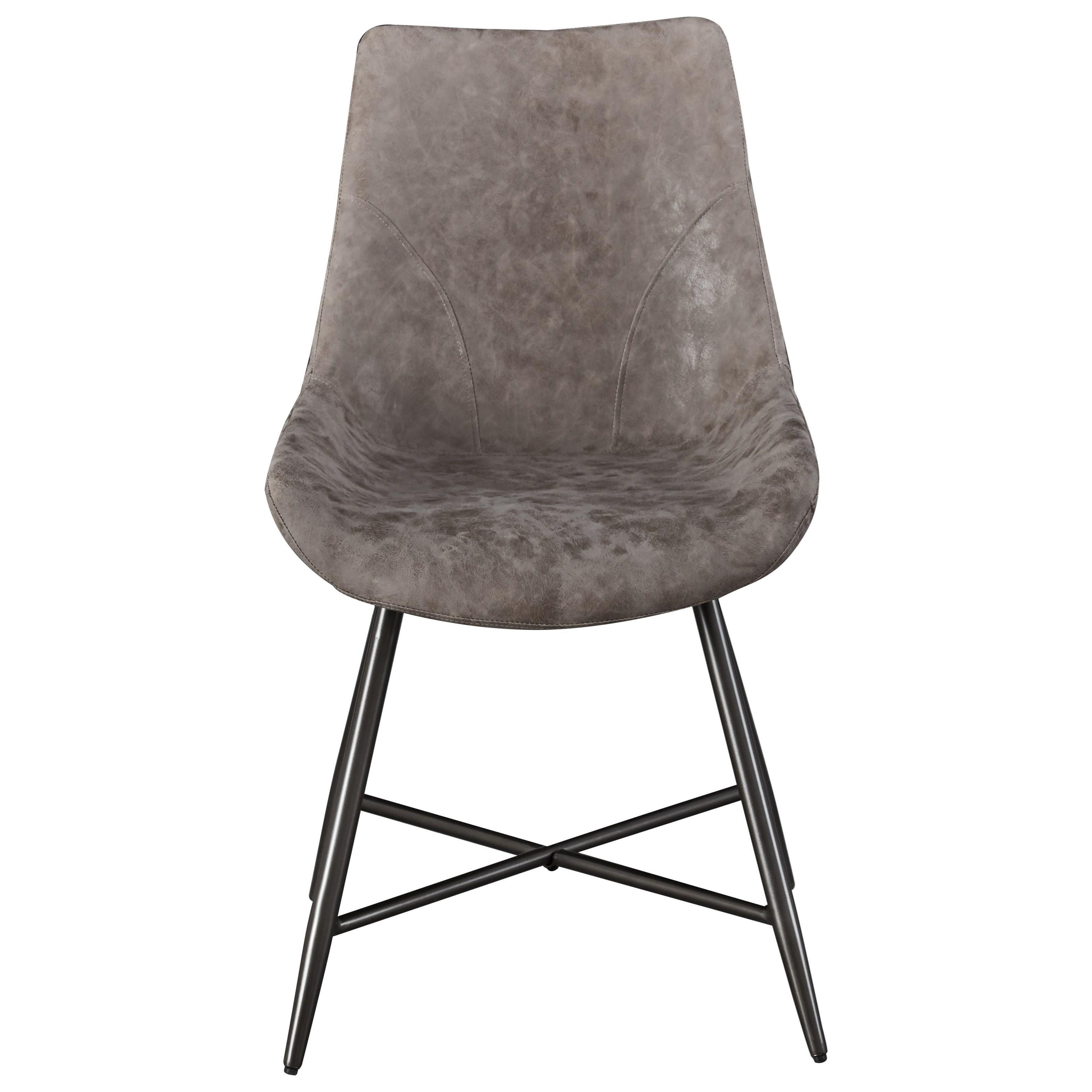 Ramona Faux Rawhide Side Chair by Steve Silver at Walker's Furniture