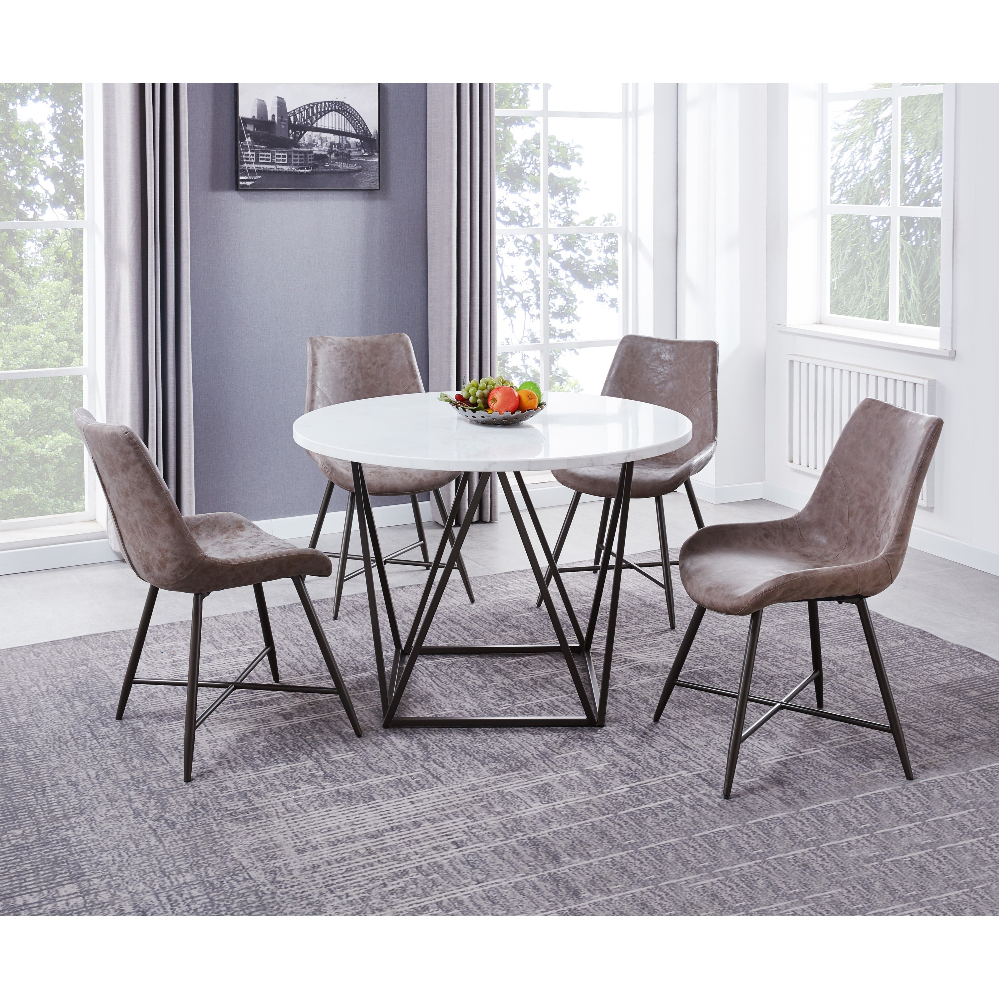 Ramona 5-Piece Dining Table and Chair Set by Steve Silver at Walker's Furniture