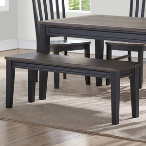Casual Two Tone Dining Bench