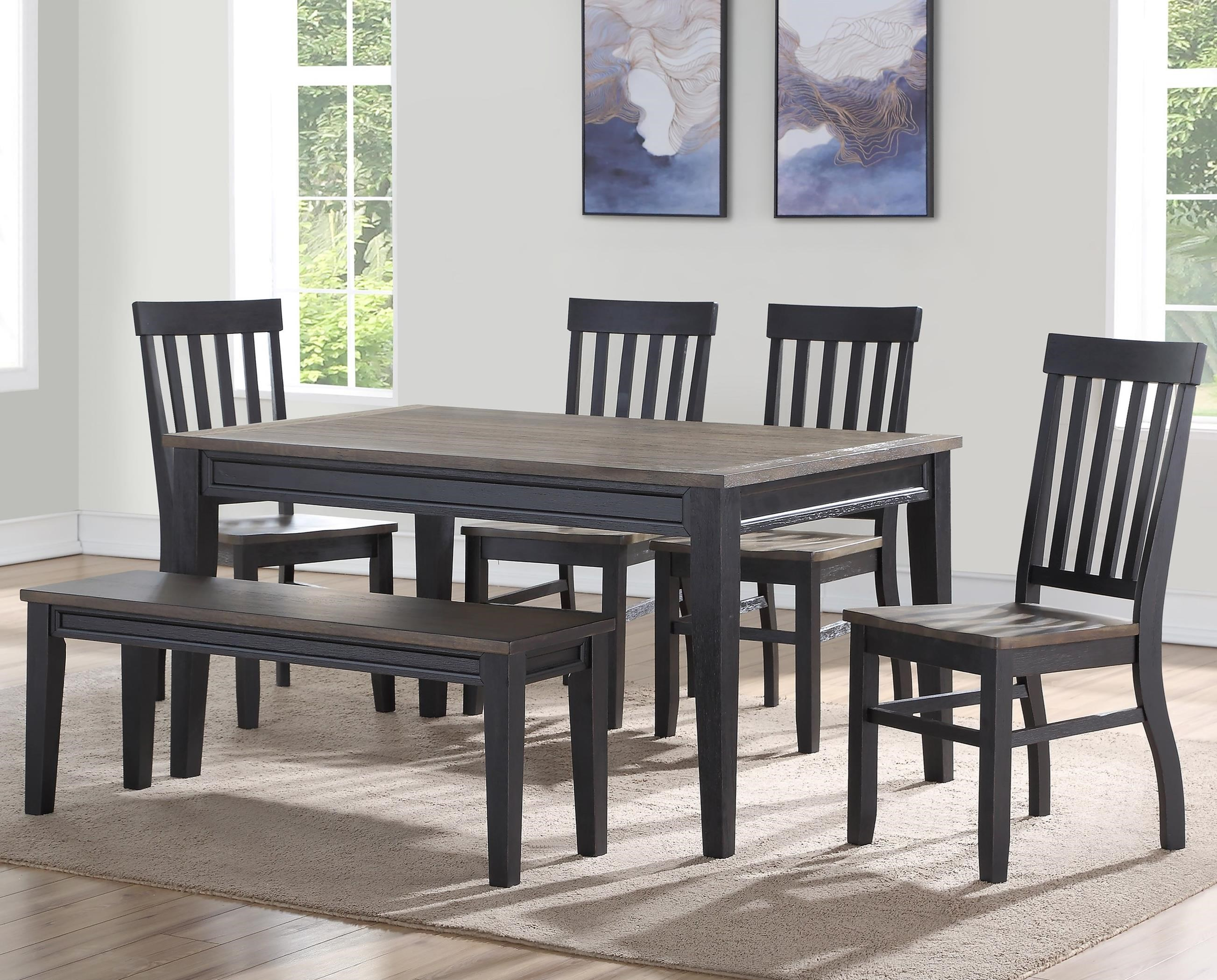 Raven Dining Set with Bench by Steve Silver at Walker's Furniture