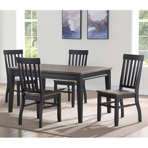 Casual Five Piece Dining Set