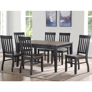 Casual Seven Piece Dining Set