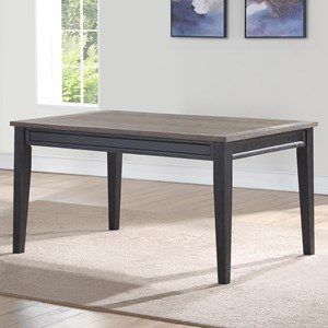 Casual Two Tone Dining Table
