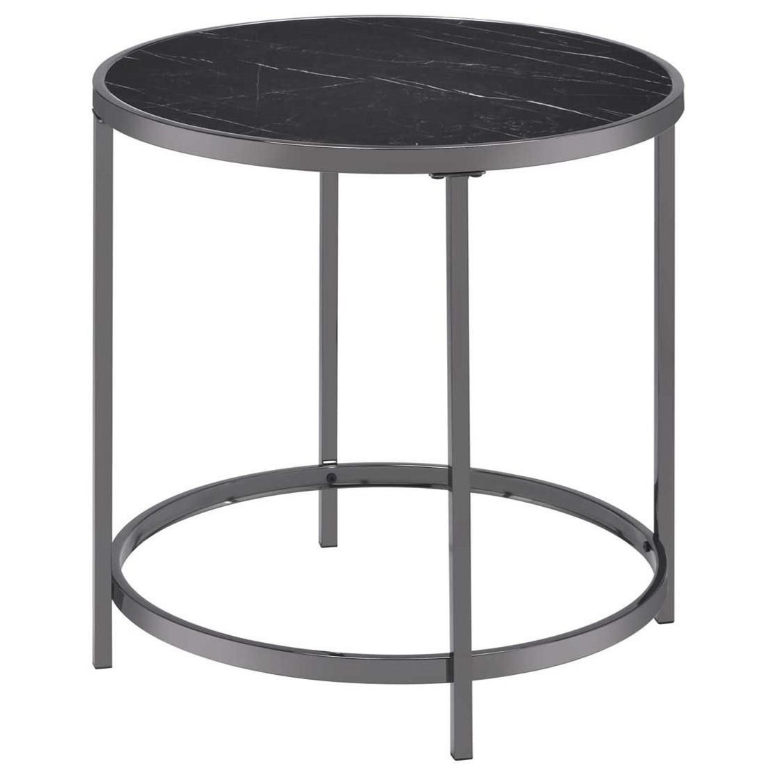 Rayne Round End Table by Steve Silver at Walker's Furniture