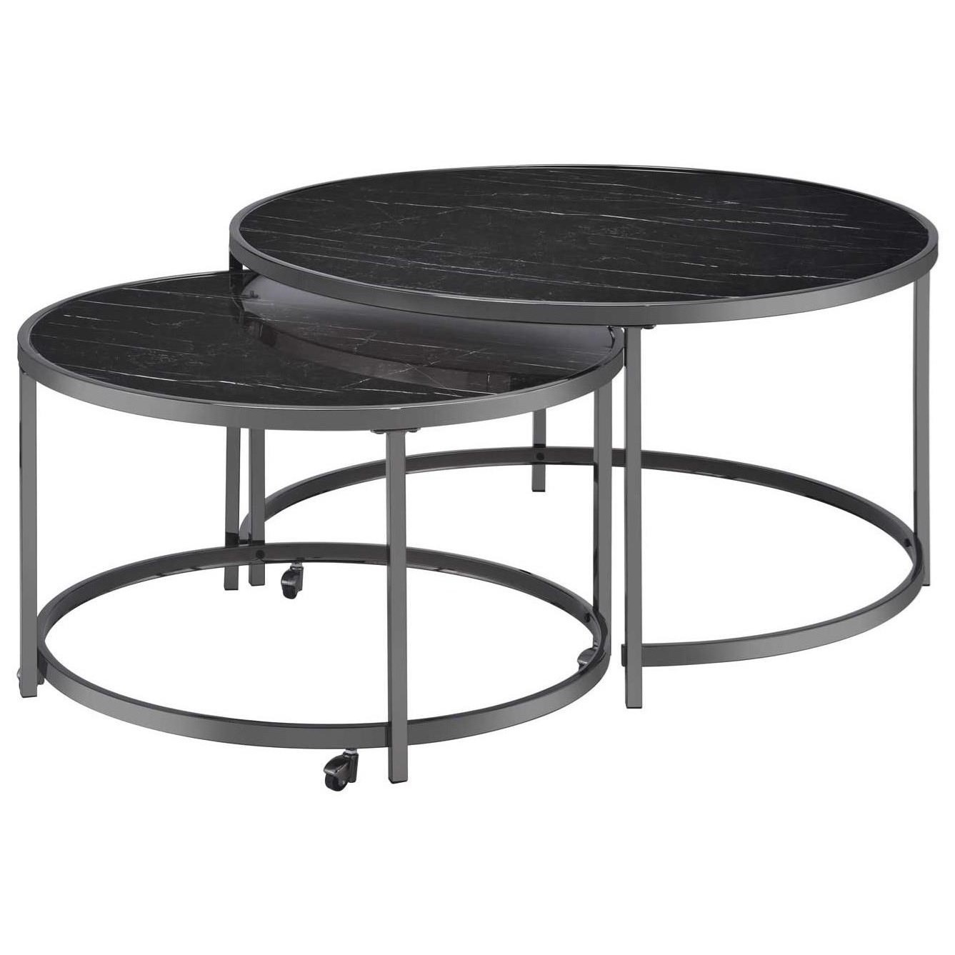 Rayne Nesting Cocktail Tables by Steve Silver at Walker's Furniture