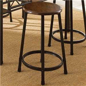Round Counter Stool with Metal Legs