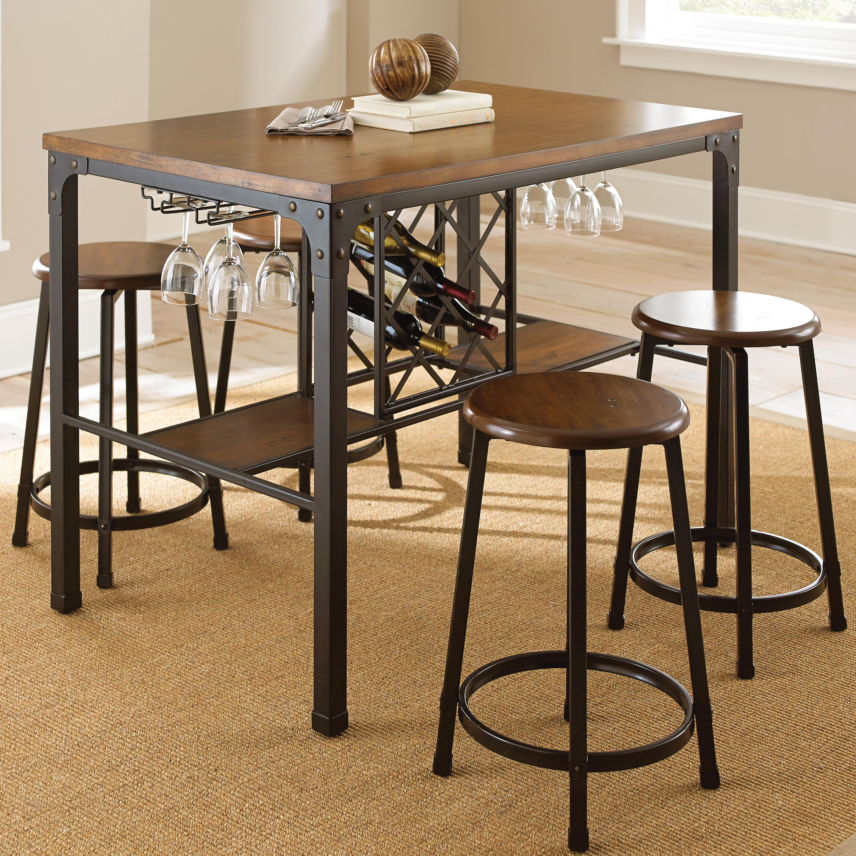 Rebecca 5 Piece Counter Table Set by Steve Silver at Northeast Factory Direct