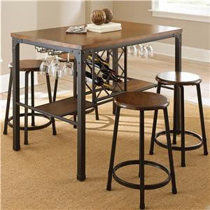 5 Piece Wine Storage Counter Table Set