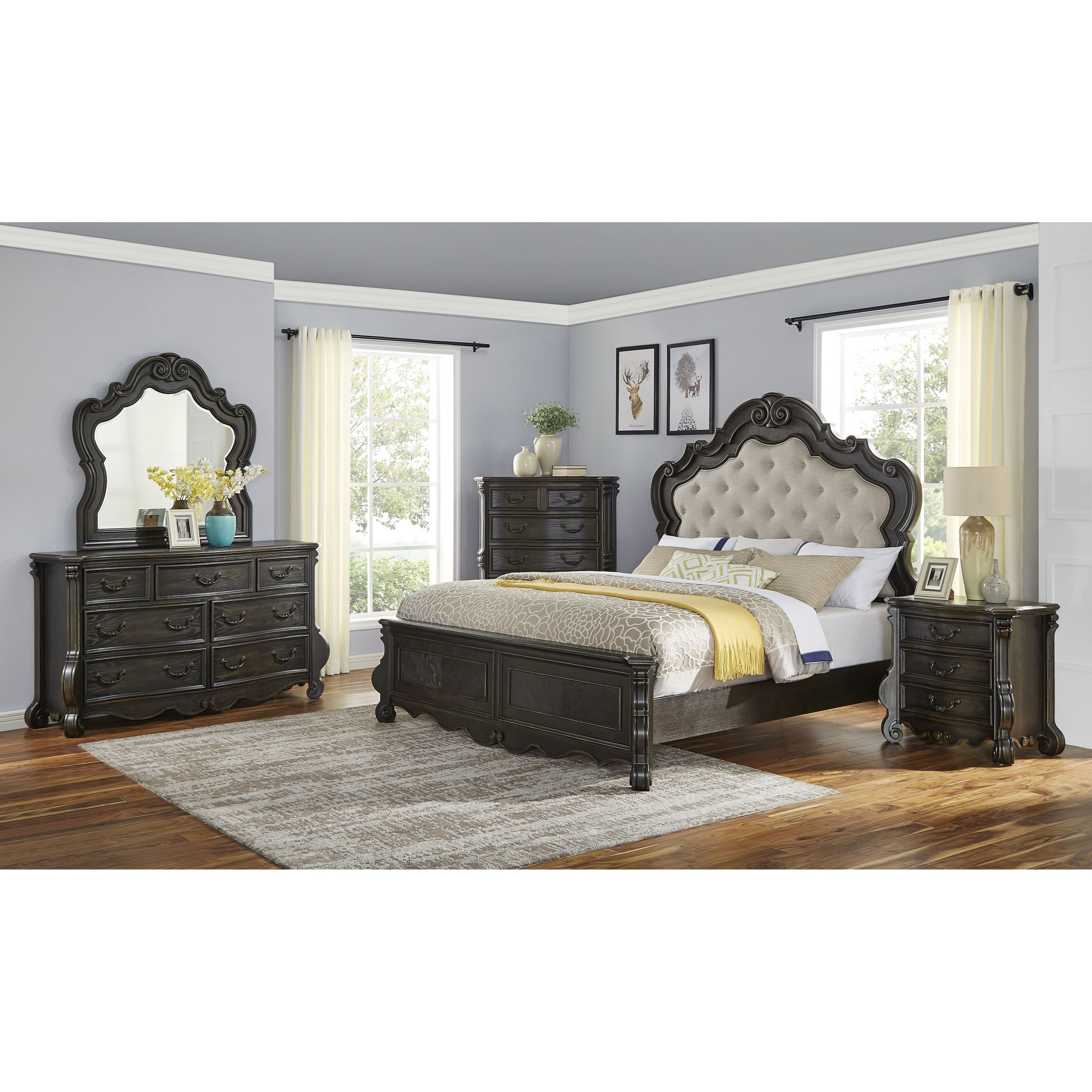 Rhapsody 5-Piece Queen Bedroom Set by Steve Silver at Northeast Factory Direct