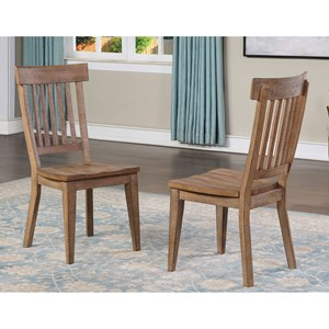 Rustic Side Chair with Shaped Wooden Seat