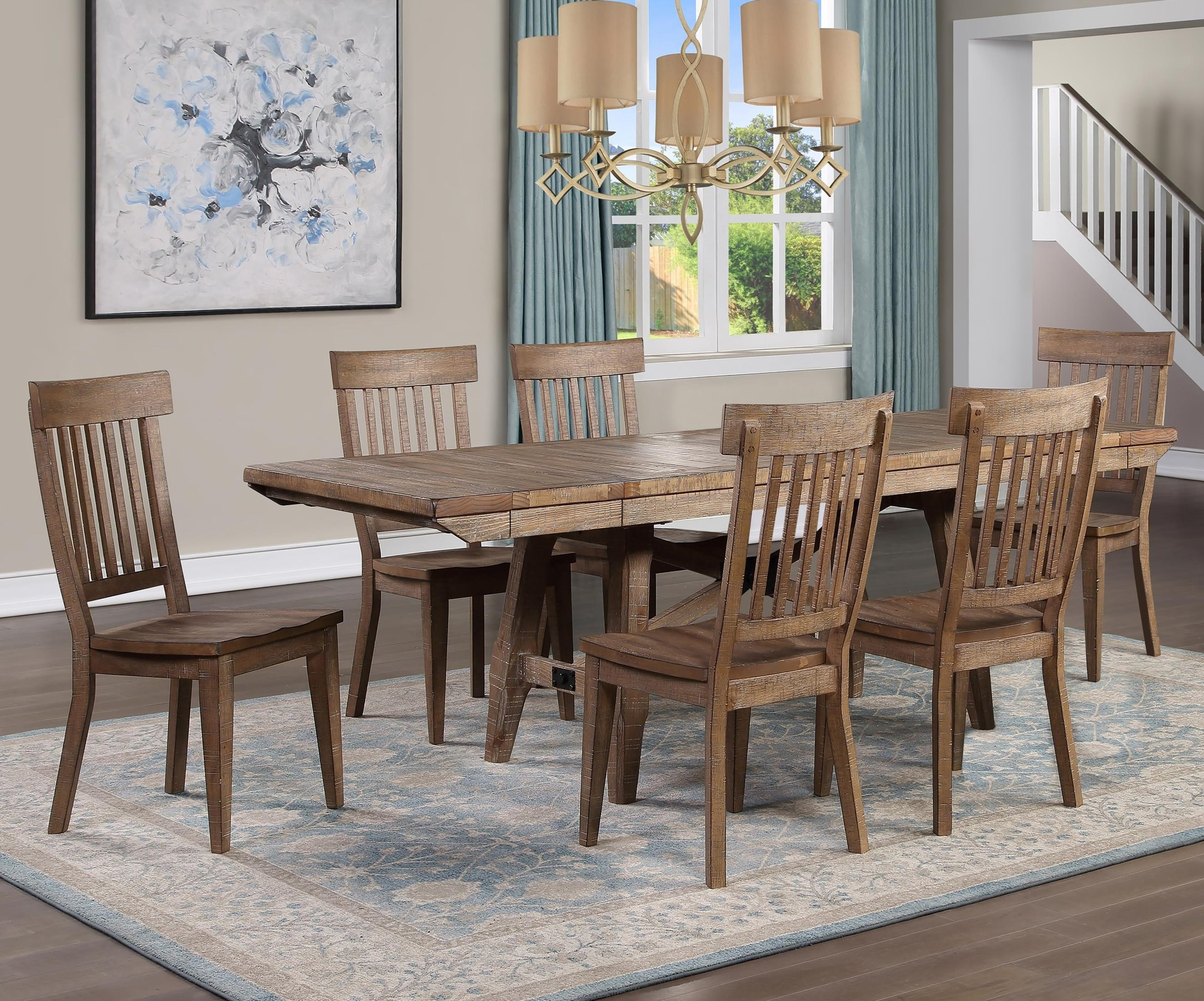 Riverdale 7-Piece Dining Table Set by Steve Silver at Walker's Furniture