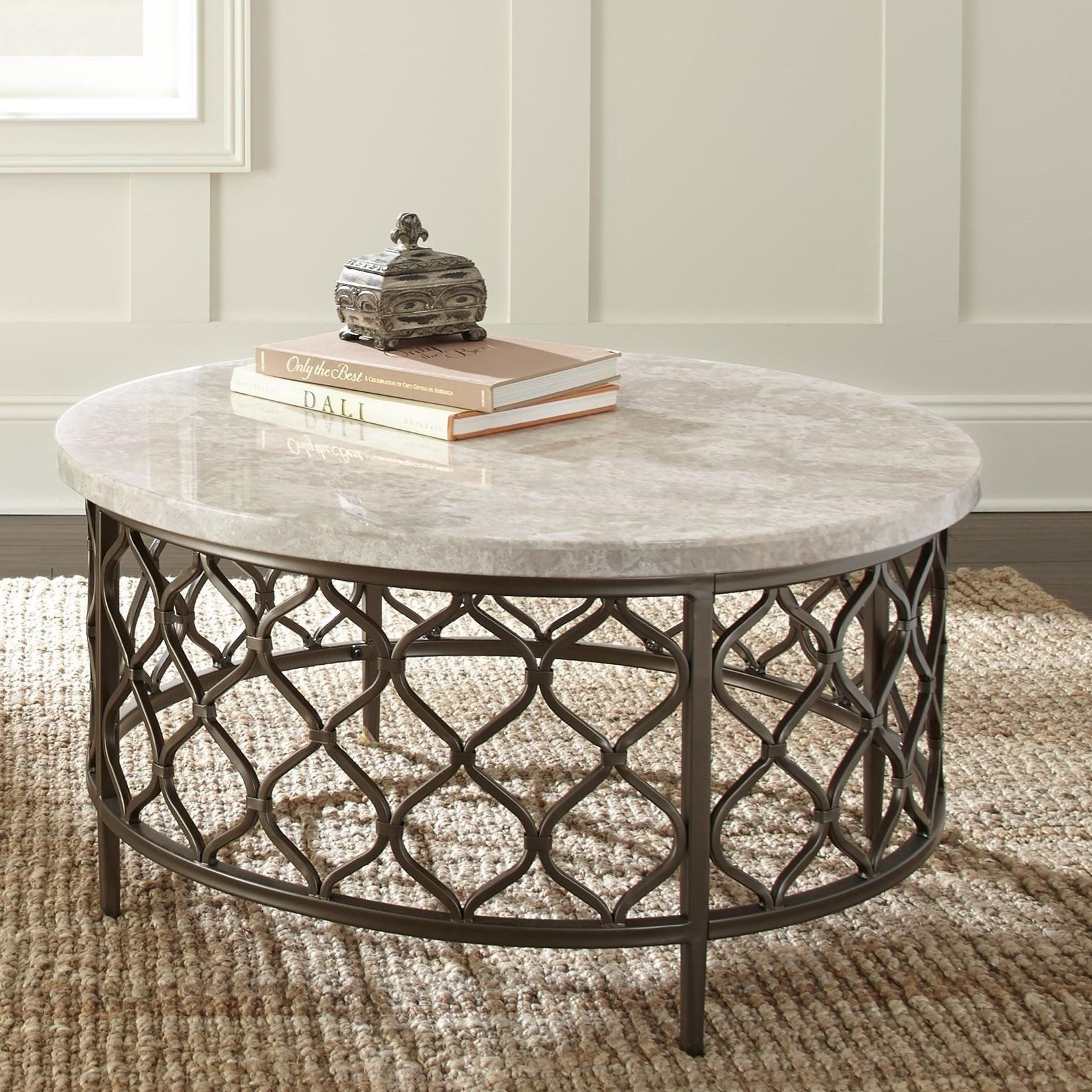 Roland Stone Top Cocktail Table by Steve Silver at Walker's Furniture