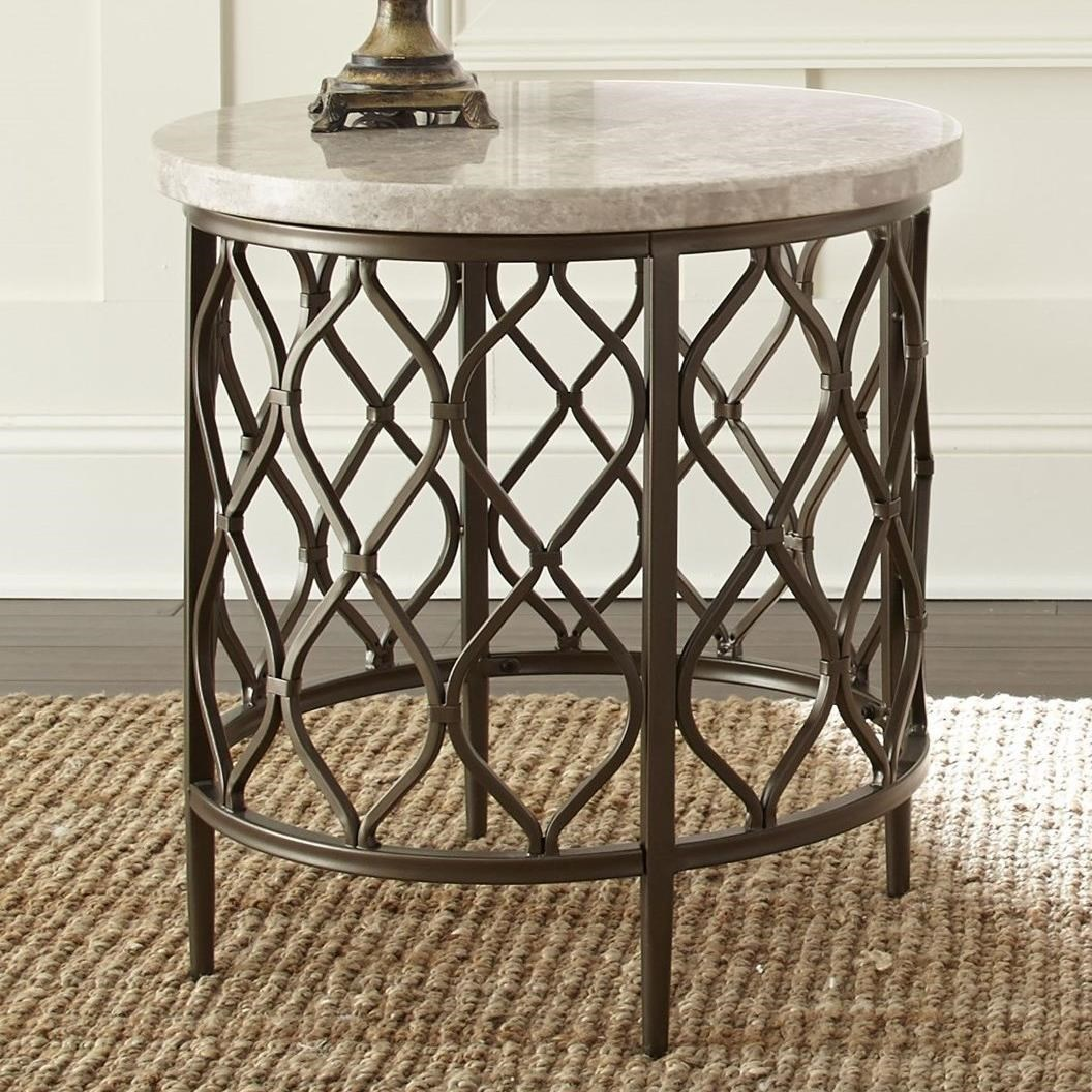 Roland Stone Top End Table by Steve Silver at Darvin Furniture