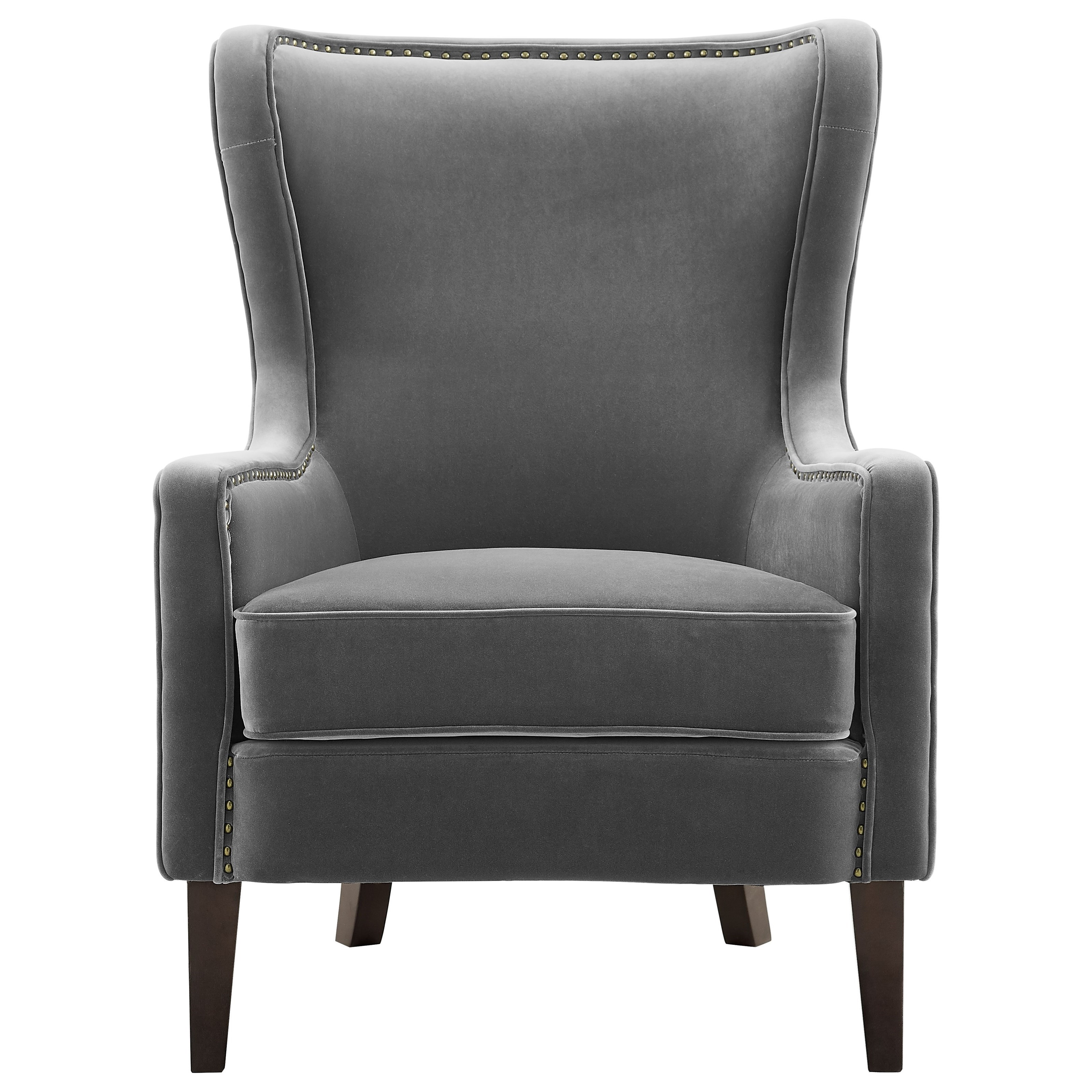 Rosco Velvet Accent Chair w/ Nailhead Trim by Steve Silver at Northeast Factory Direct
