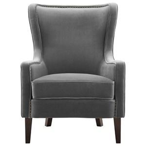 Velvet Accent Chair w/ Nailhead Trim