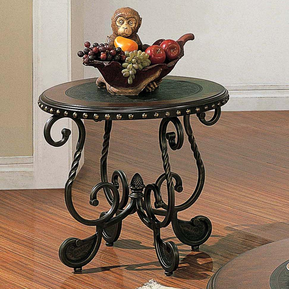 Rosemont Round Metal End Table by Steve Silver at Walker's Furniture