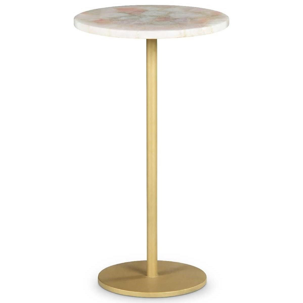 Rosie Rose Quartz Top Chairside End Table by Steve Silver at Northeast Factory Direct