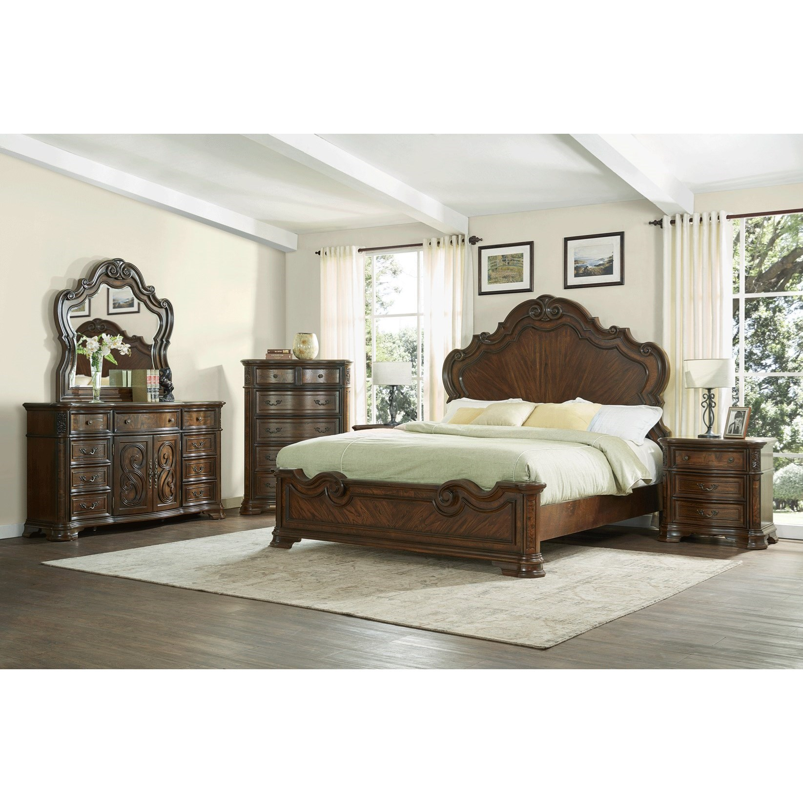 Royale King Bedroom Group by Steve Silver at Northeast Factory Direct