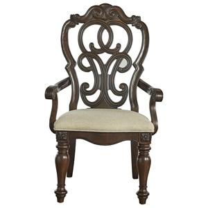 Arm Chair with Cascading Medallion Back
