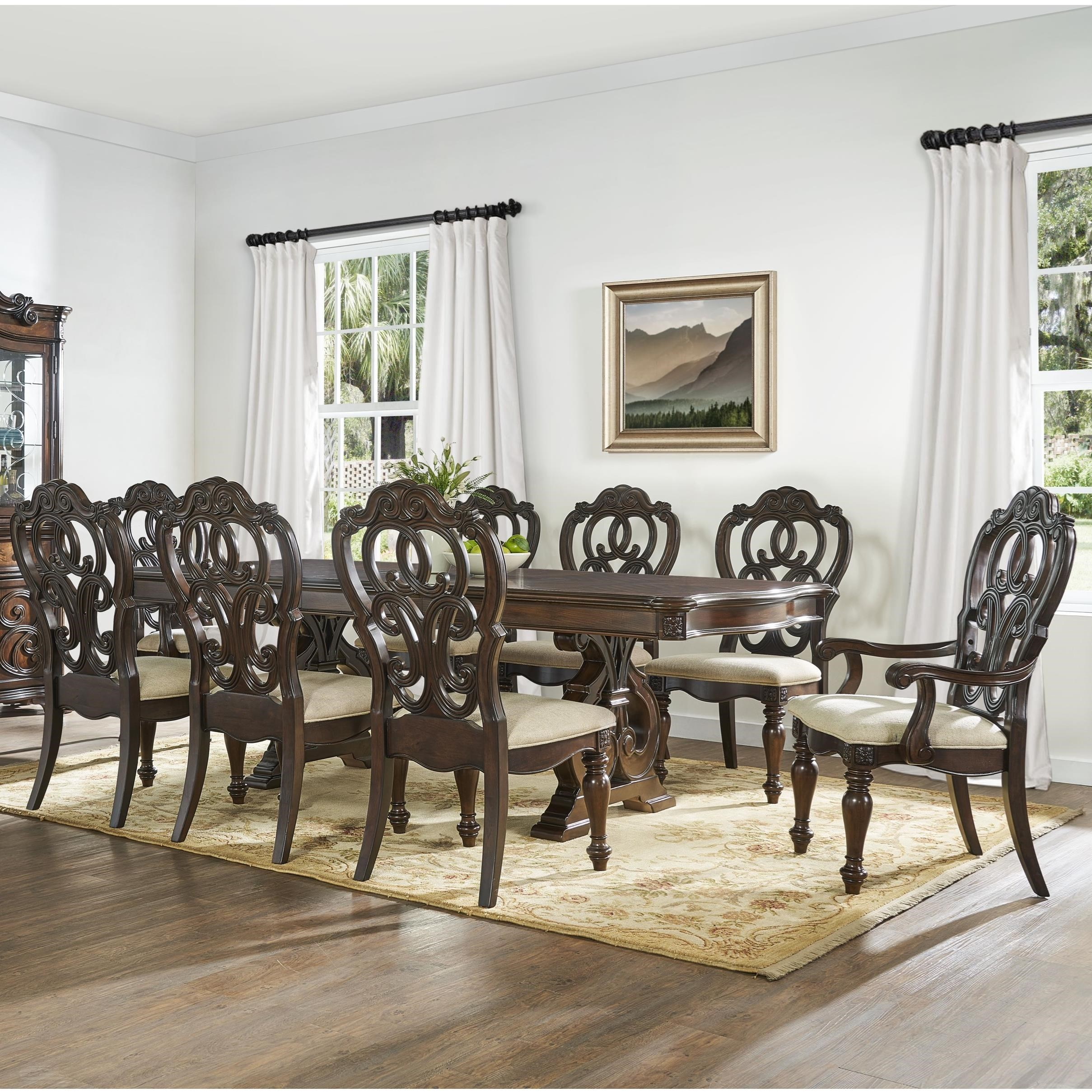Royale 9 Piece Dining Set by Steve Silver at Northeast Factory Direct