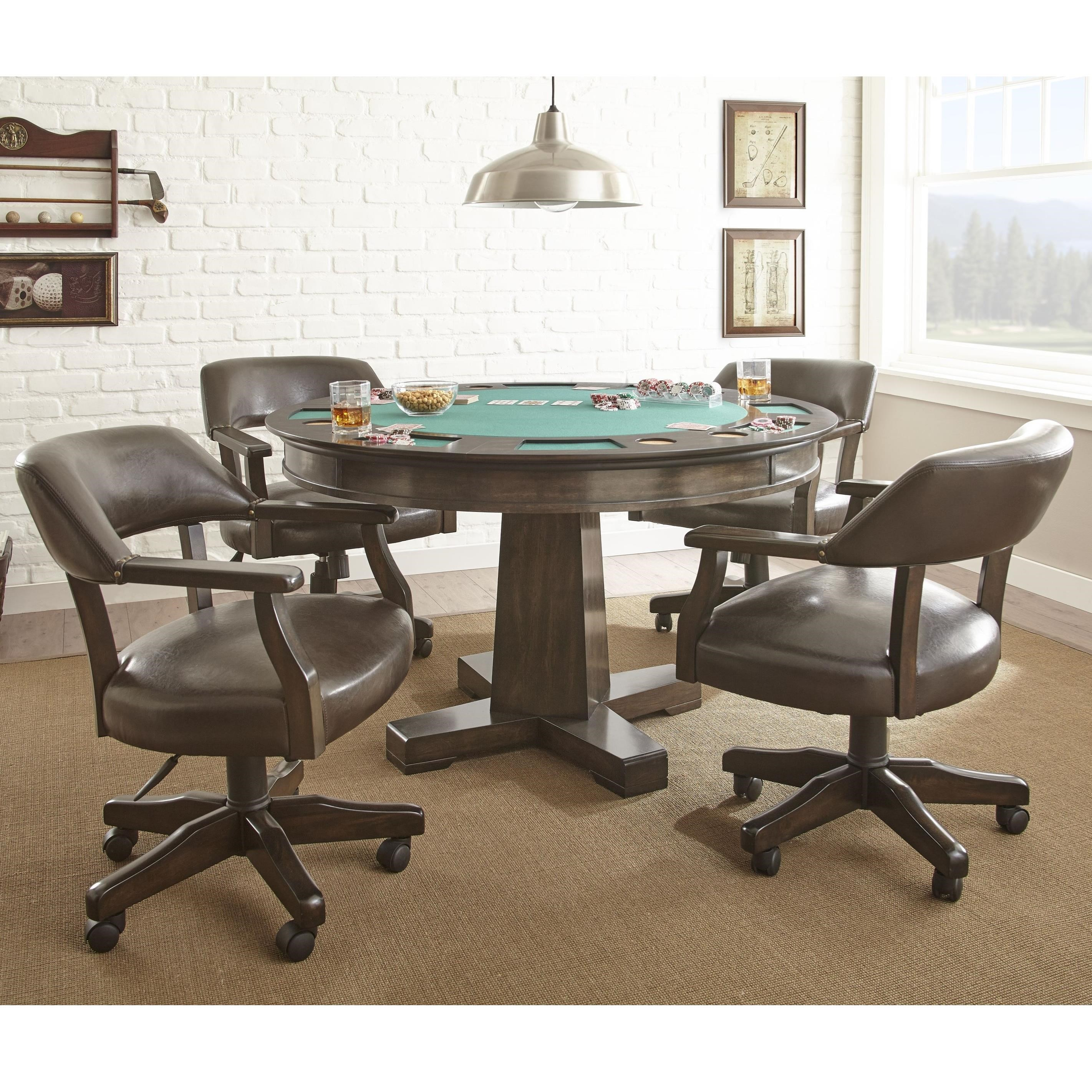 Ruby Game Table Set by Steve Silver at Walker's Furniture