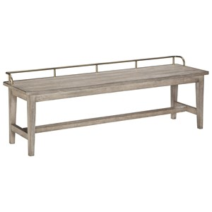 Transitional Dining Bench with Gallery Rail