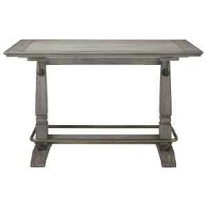 Transitional Counter Height Table with Gallery Rails