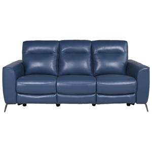 Contemporary Power Reclining Sofa with USB Charging Ports