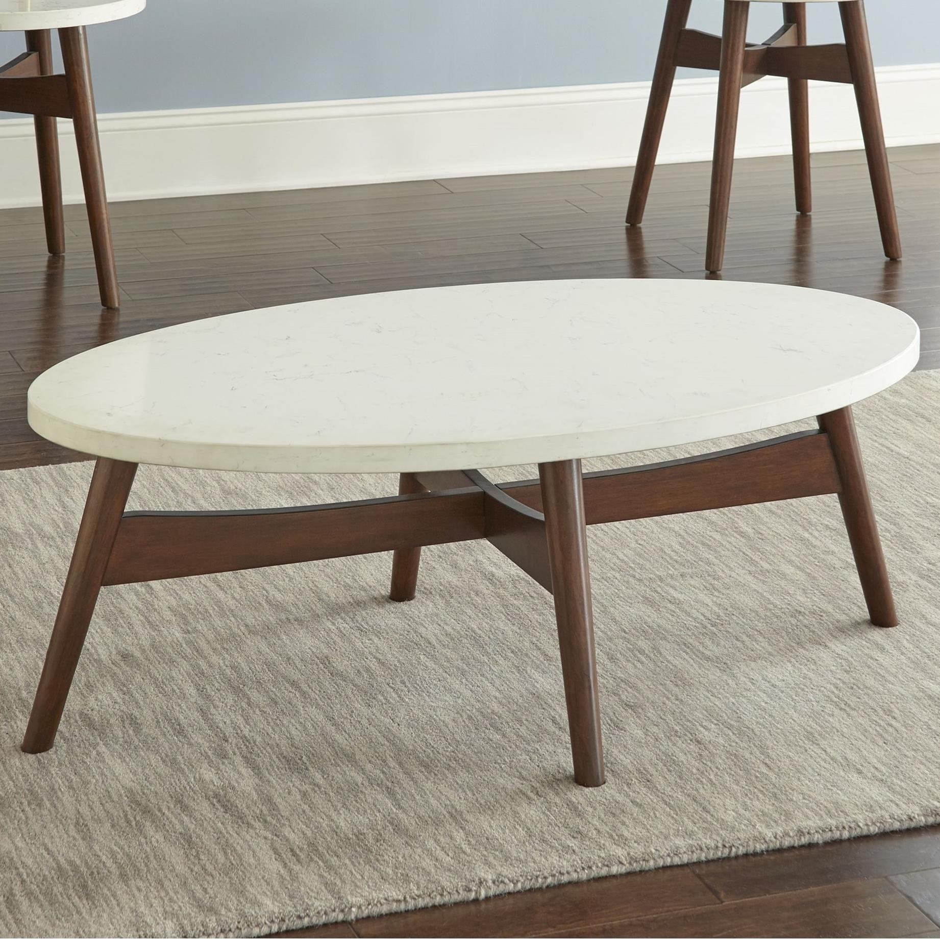 Serena Silverstone® Oval Cocktail Table by Steve Silver at Darvin Furniture