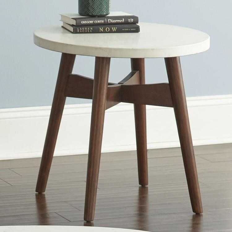 Serena Silverstone® Round End Table by Steve Silver at Darvin Furniture