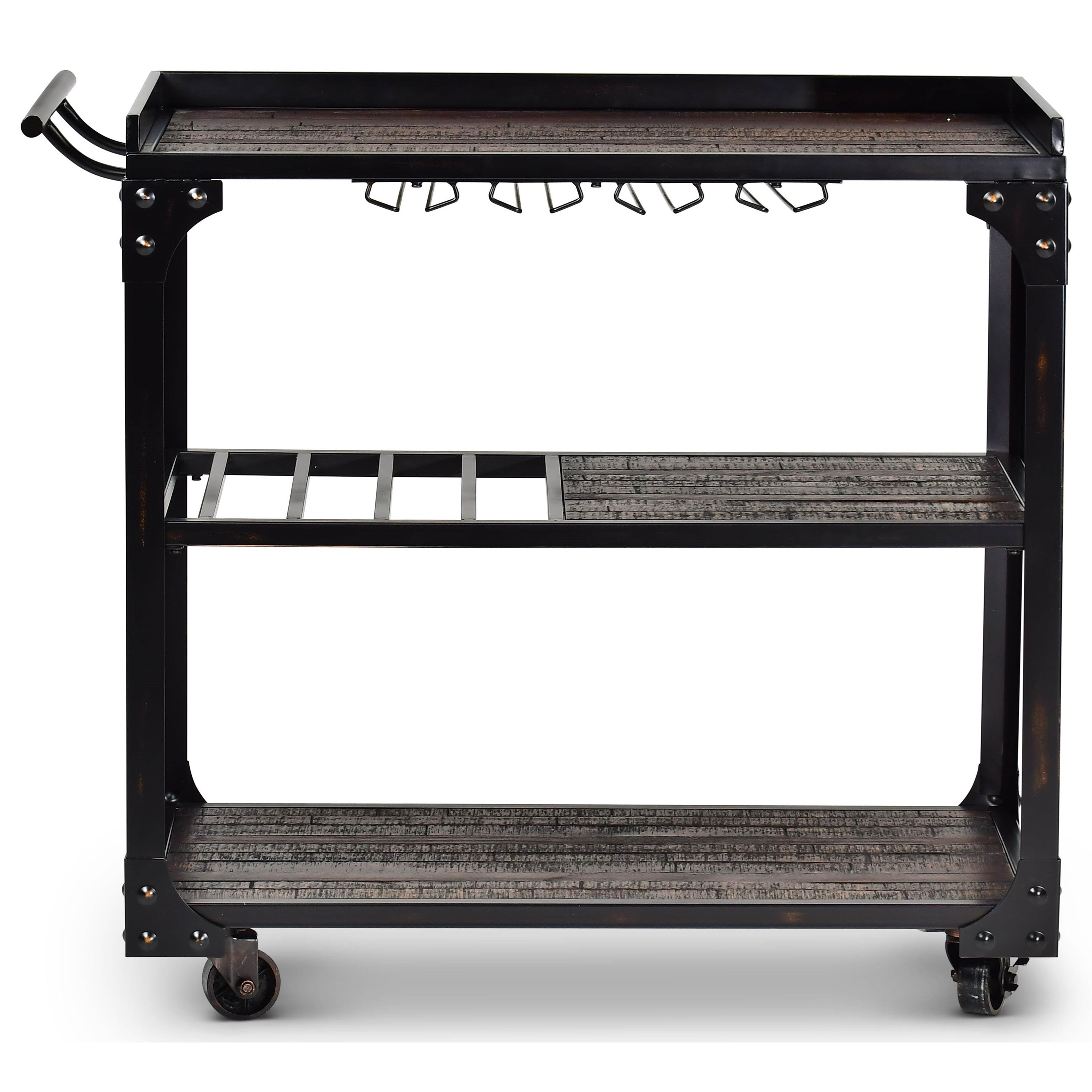Sherlock Cart w/ Casters by Steve Silver at Walker's Furniture