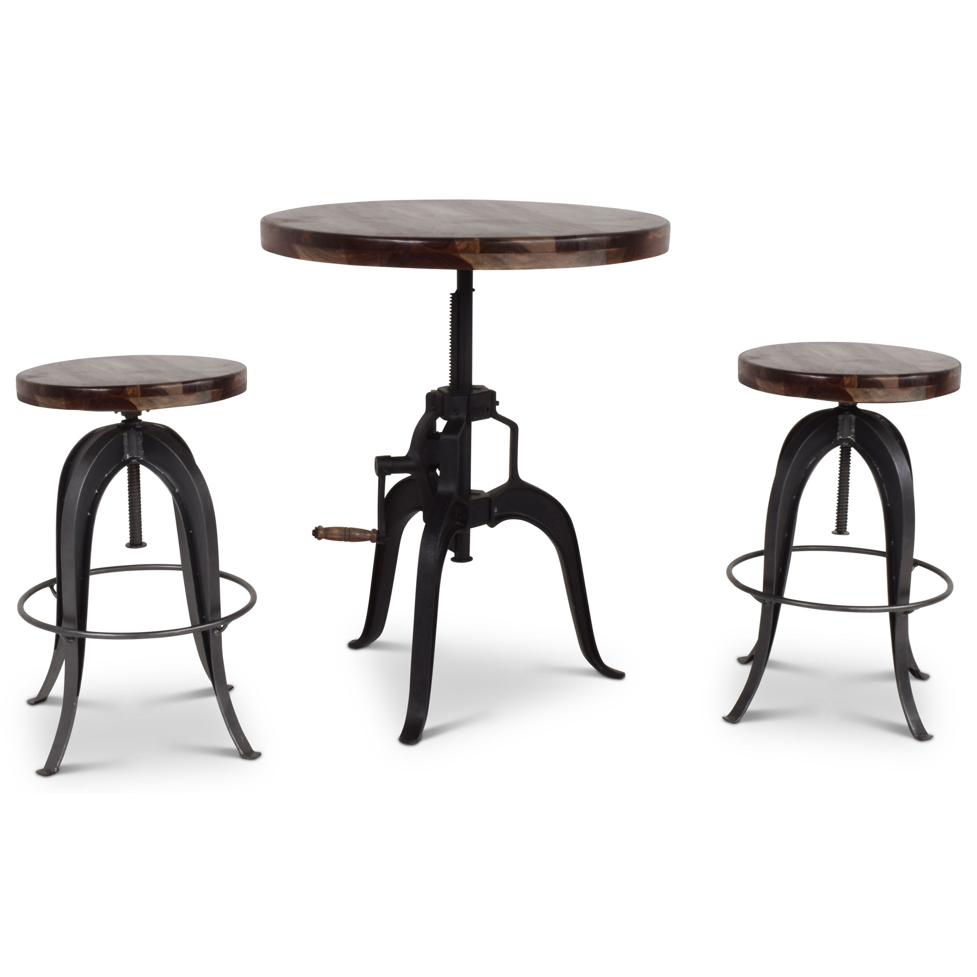 Sparrow 3 Pc Bar Table and Stool Set by Steve Silver at Northeast Factory Direct