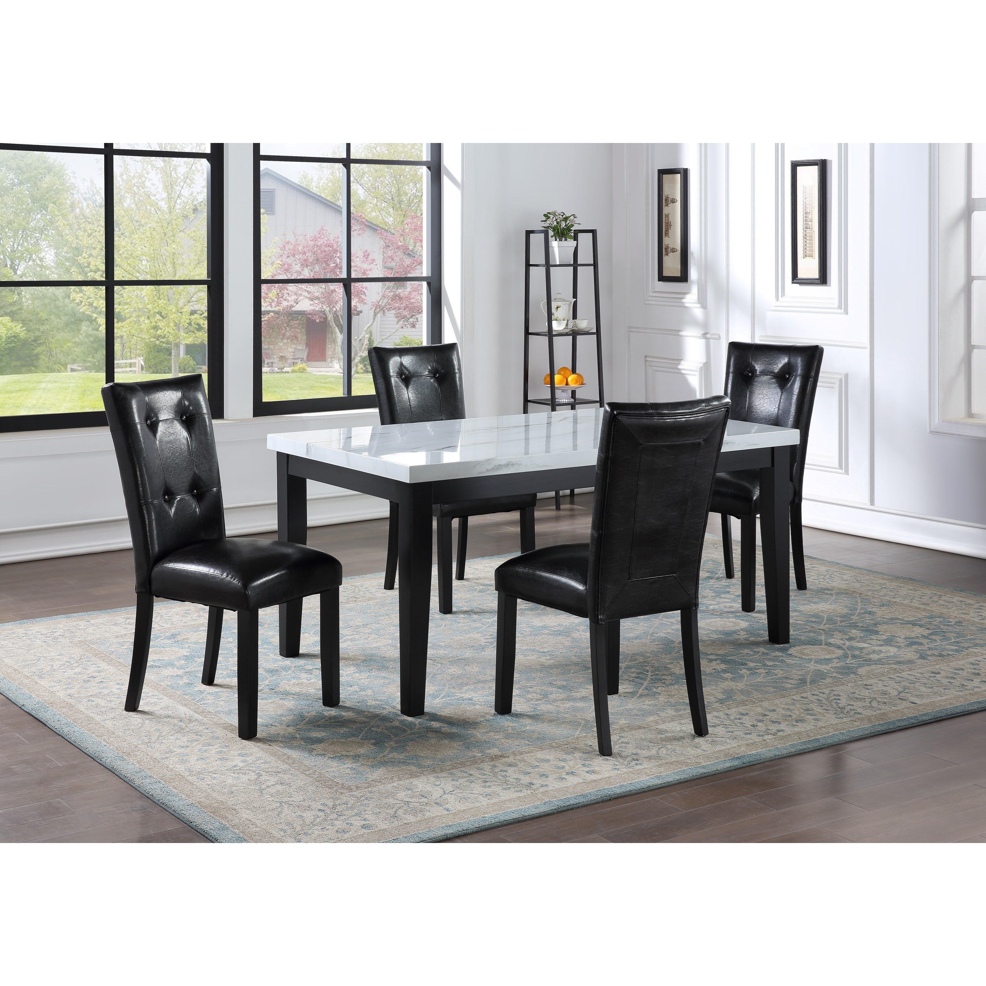 Sterling 5-Piece Table and Chair Set by Steve Silver at Walker's Furniture