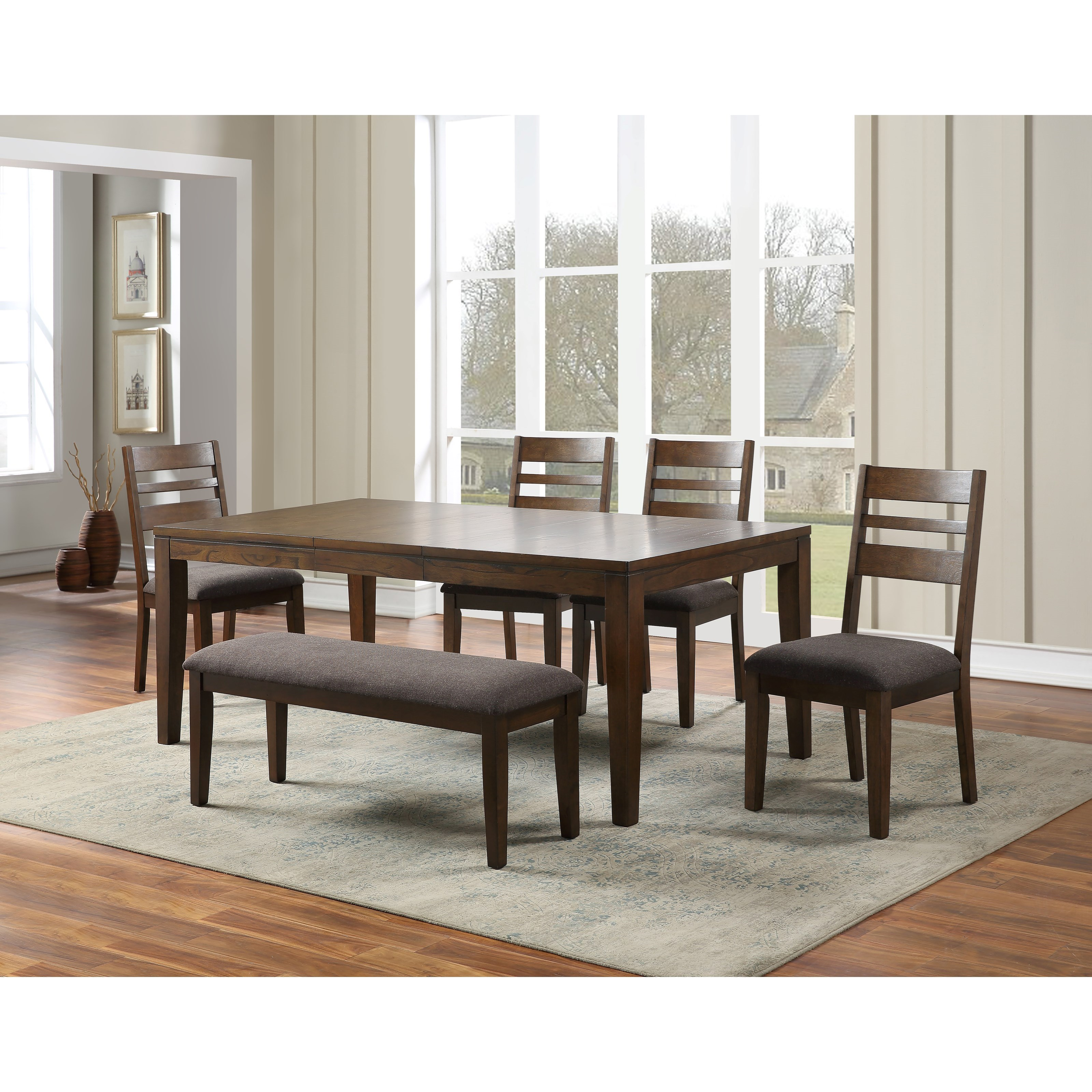 Stratford Table & Chair Set with Bench by Steve Silver at Northeast Factory Direct