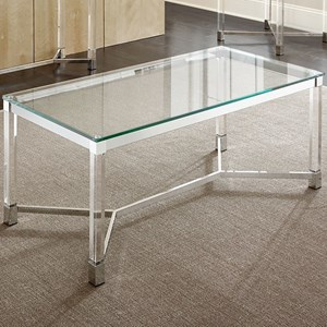 Rectangular Glass Cocktail Table With Acrylic legs