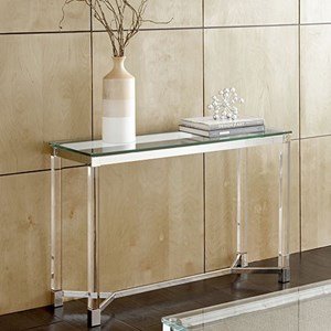 Glass Top Sofa Table with Acrylic Legs