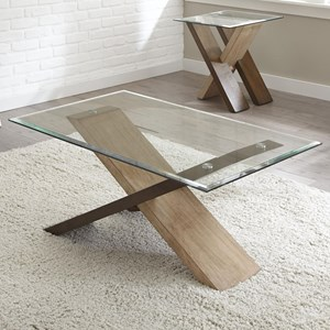 Cocktail Table with Glass Top