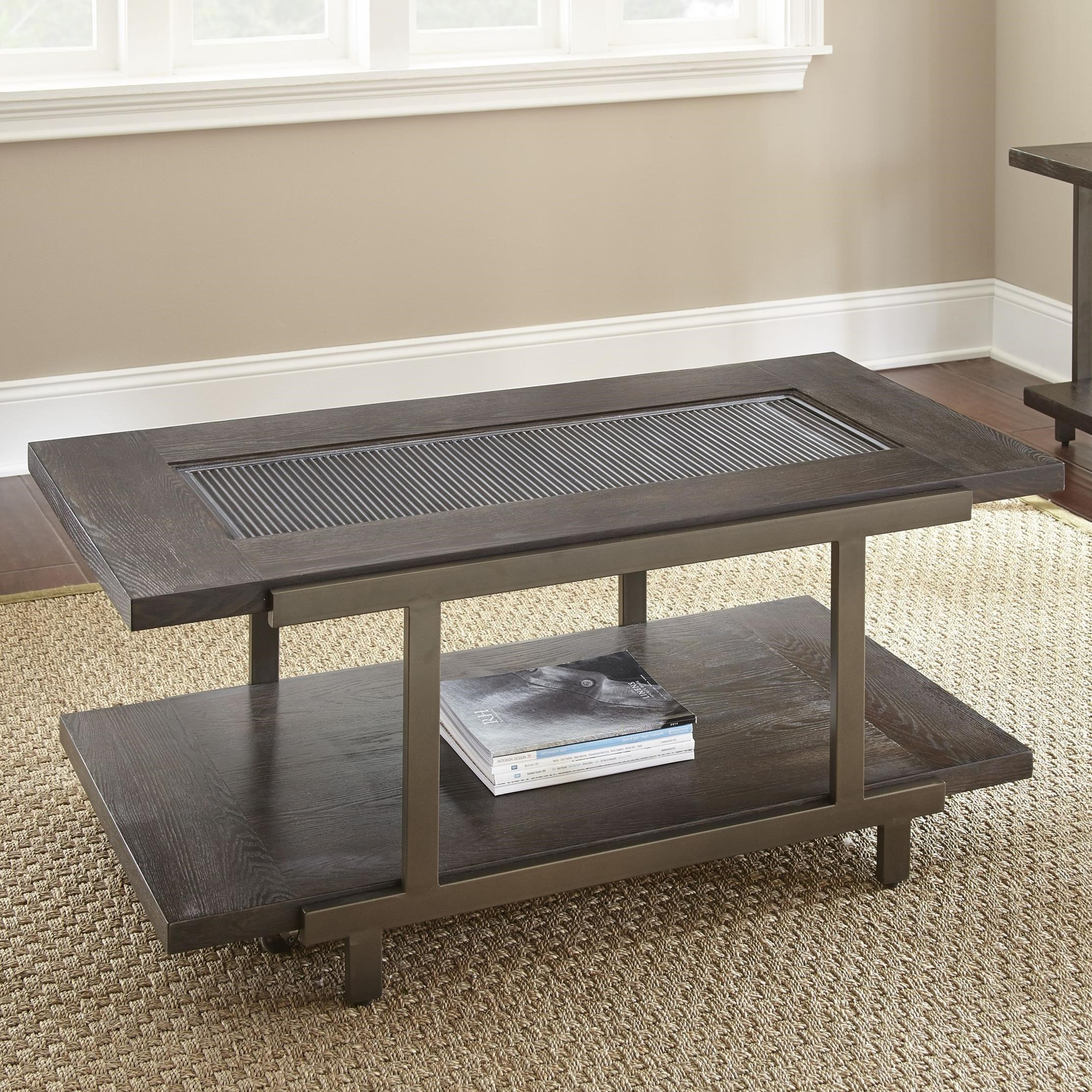 Terrell Cocktail Table W/Caster by Steve Silver at Northeast Factory Direct