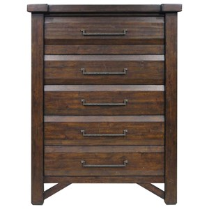 Rustic Five Drawer Chest