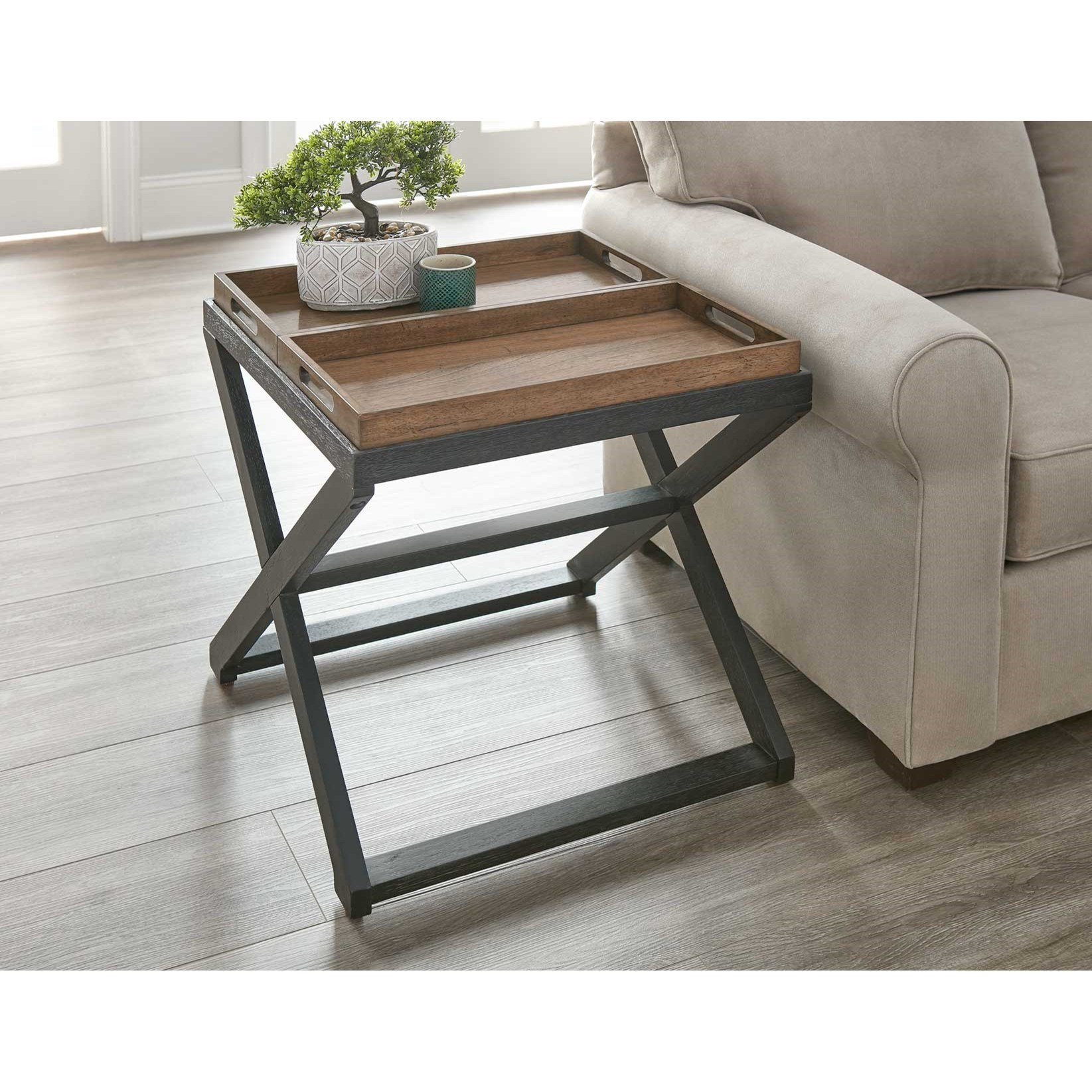 Topeka End Table by Steve Silver at Northeast Factory Direct