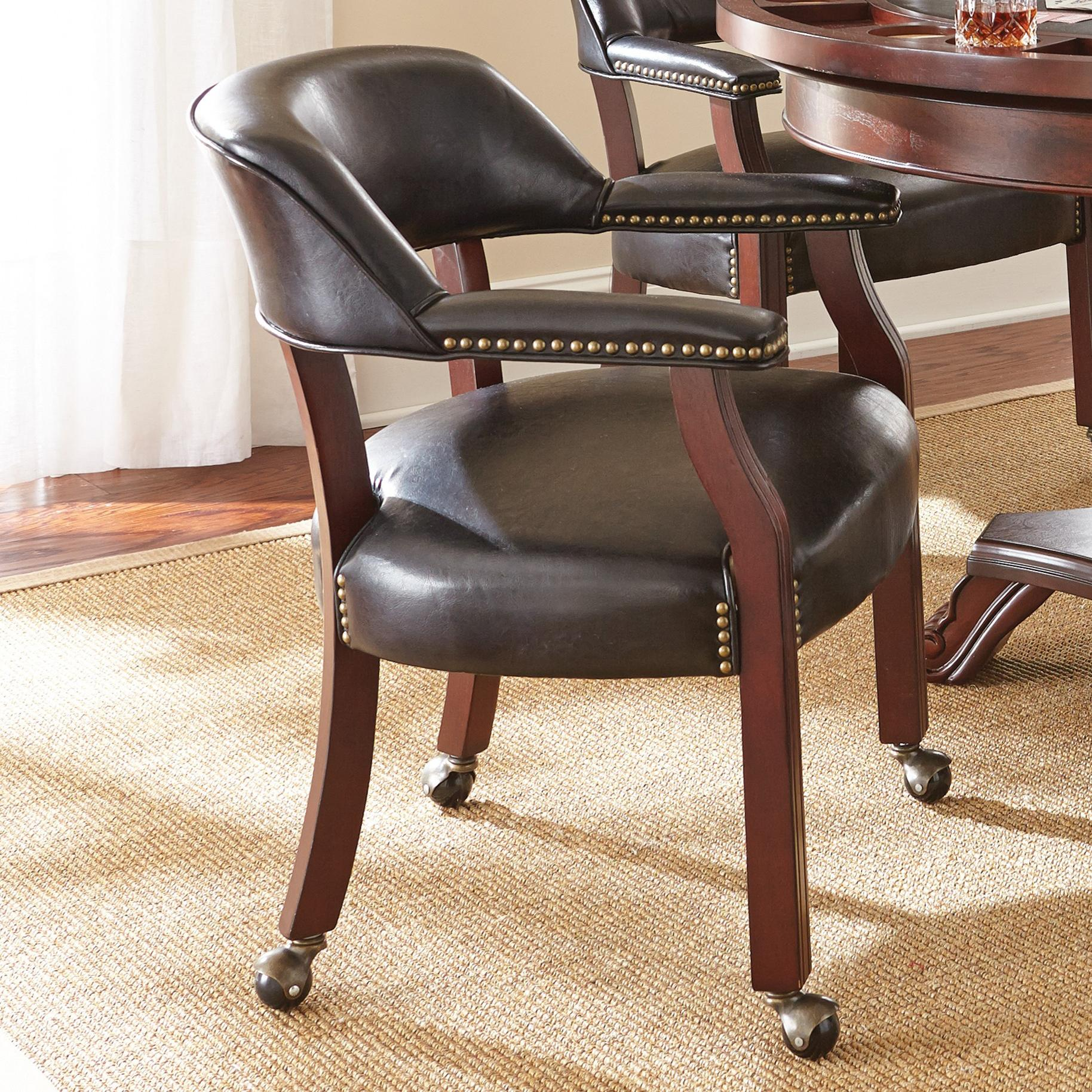 Tournament Tournament Arm Chair with Casters by Steve Silver at Walker's Furniture