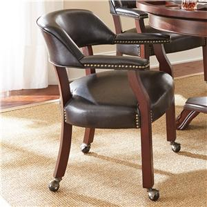 Steve Silver Tournament Tournament Arm Chair with Casters
