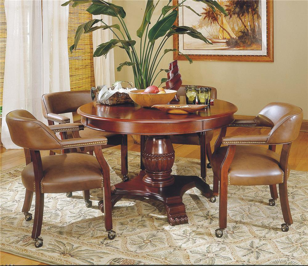 Tournament Tournament Game Table & Caster Arm Chair Set by Steve Silver at Northeast Factory Direct
