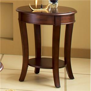 Round End Table with Sabered Legs