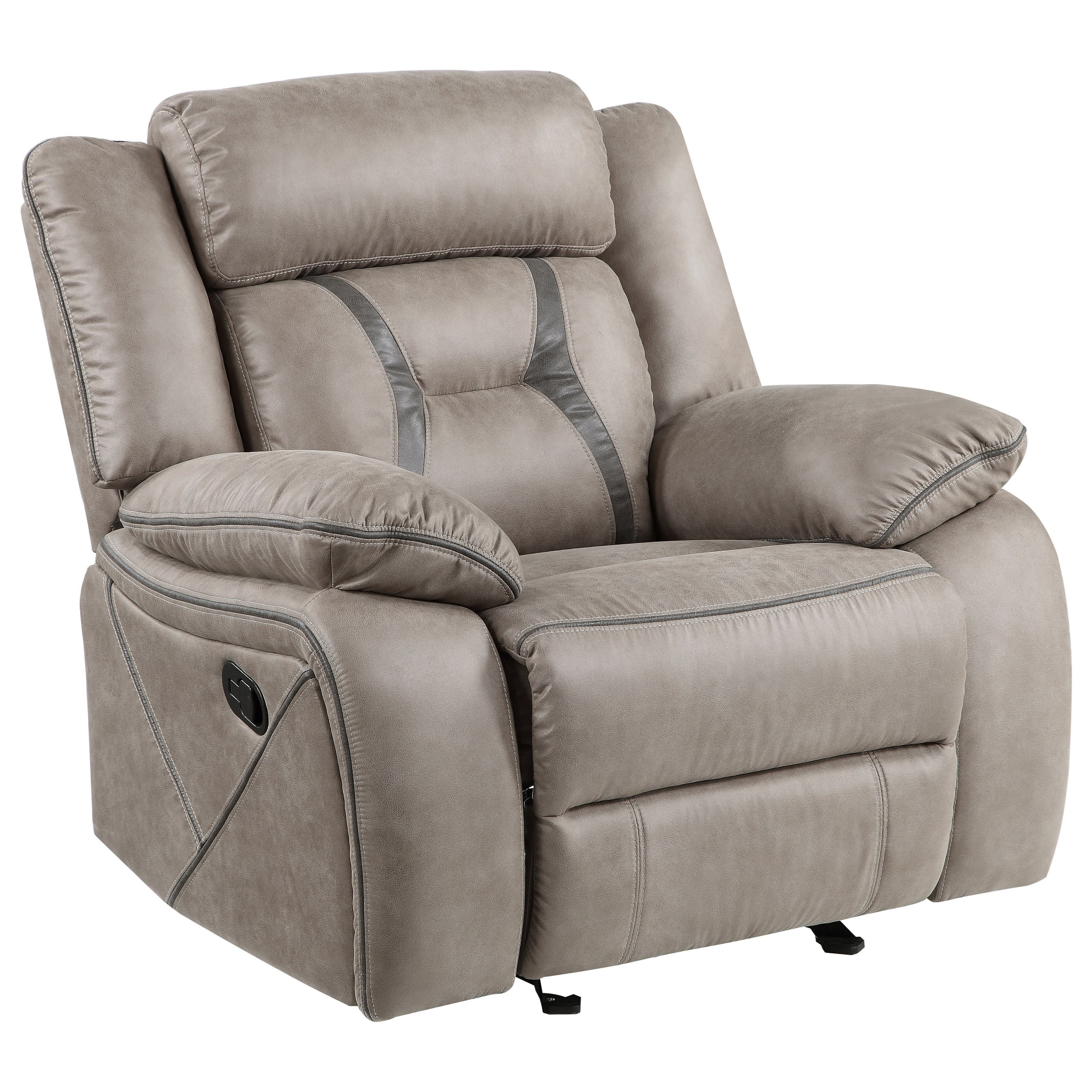 Tyson Manual Glider Recliner by Steve Silver at Northeast Factory Direct