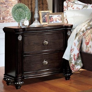 Traditional Nightstand with Felt-Lined Top Drawer