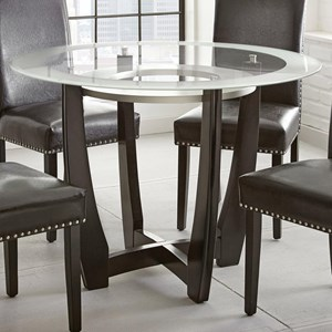 "Contemporary 45"" Round Glass Top Dining Table"