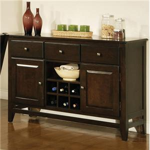 3 Drawer, 2 Door Victoria Server with Wine Rack